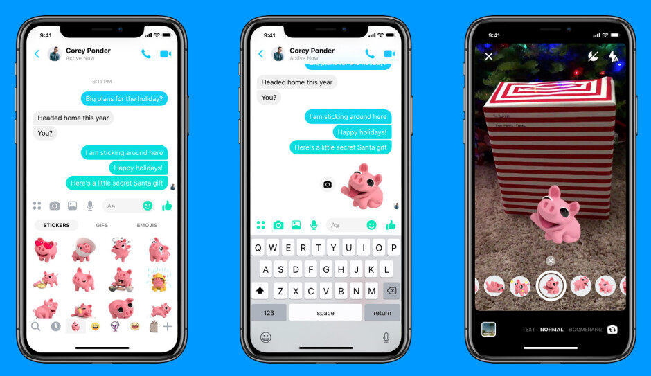 Facebook Messenger update introduces new selfie mode and AR stickers