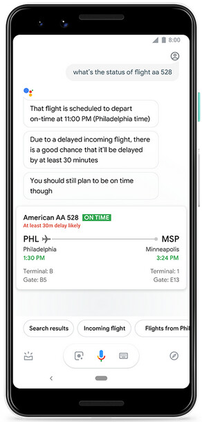 Google Assistant can predict whether your flight is going to be delayed - Google Assistant will now tell you if it thinks your flight will be delayed