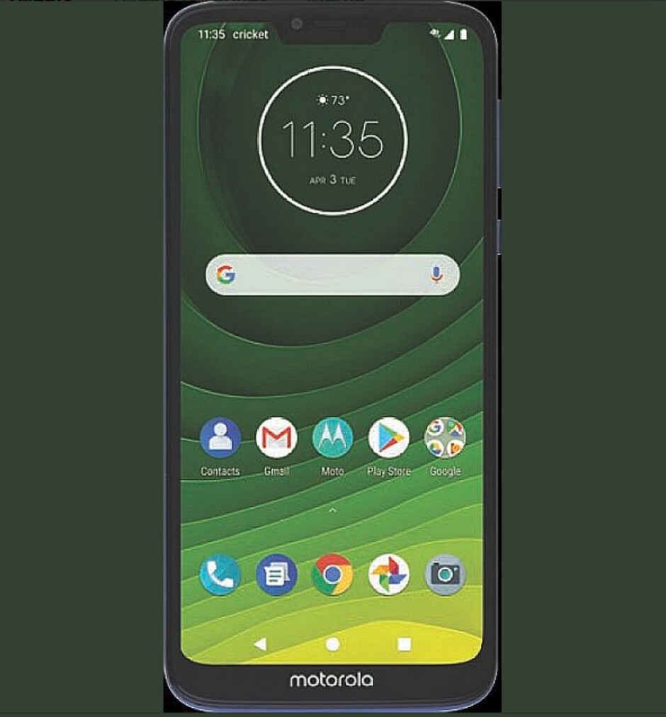 Render allegedly shows off the Moto G7 Supra for Cricket - Leaked render reveals the Moto G7 Supra for Cricket