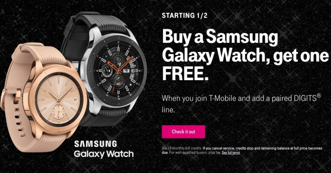 T-Mobile will ring in the new year with killer Samsung Galaxy Watch and Apple Watch deals