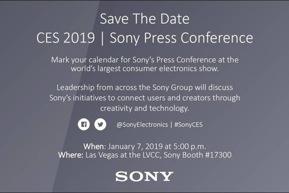 Sony announces CES 2019 event: Xperia XA3/XA3 Ultra may arrive January 7