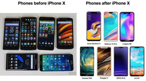 The Apple iPhone still has an influence on some Android manufacturers