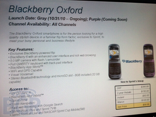 Trick or Treat with the BlackBerry Style 9670 - No Trick, all Treat as the BlackBerry Style clamshell heads for October 31st launch on Sprint?
