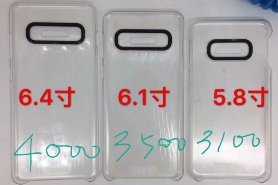 Regular Galaxy S10+, S10, and S10 Lite with their purported battery capacities - 5G Samsung Galaxy S10+ and the foldable Galaxy will reportedly sport absolutely massive batteries