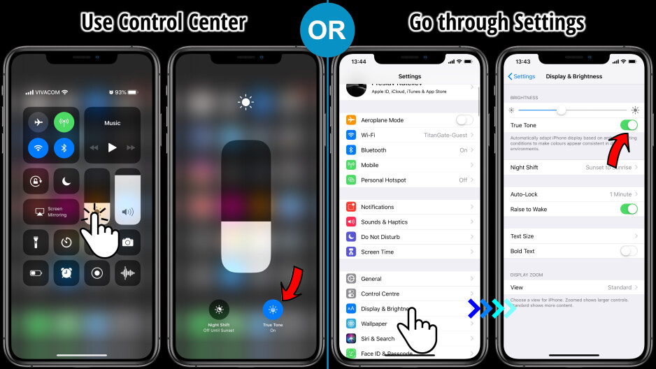 iPhone XS True Tone: how to get rid of the yellow hue