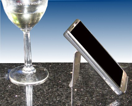 Smartphone coaster keeps your precious phone dry and safe