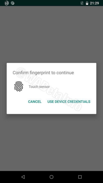 WhatsApp starts working on Touch ID security feature for Android users