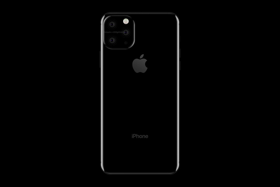 iPhone XI Max with triple camera, render by Digit.in - WSJ reveals 2019 iPhone lineup details