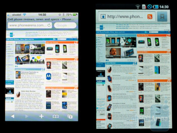 Left - iPhone 4, Right - Samsung Galaxy S
