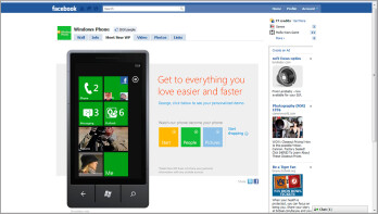 Microsoft's Facebook page provides you a look at WP7's integration of Facebook