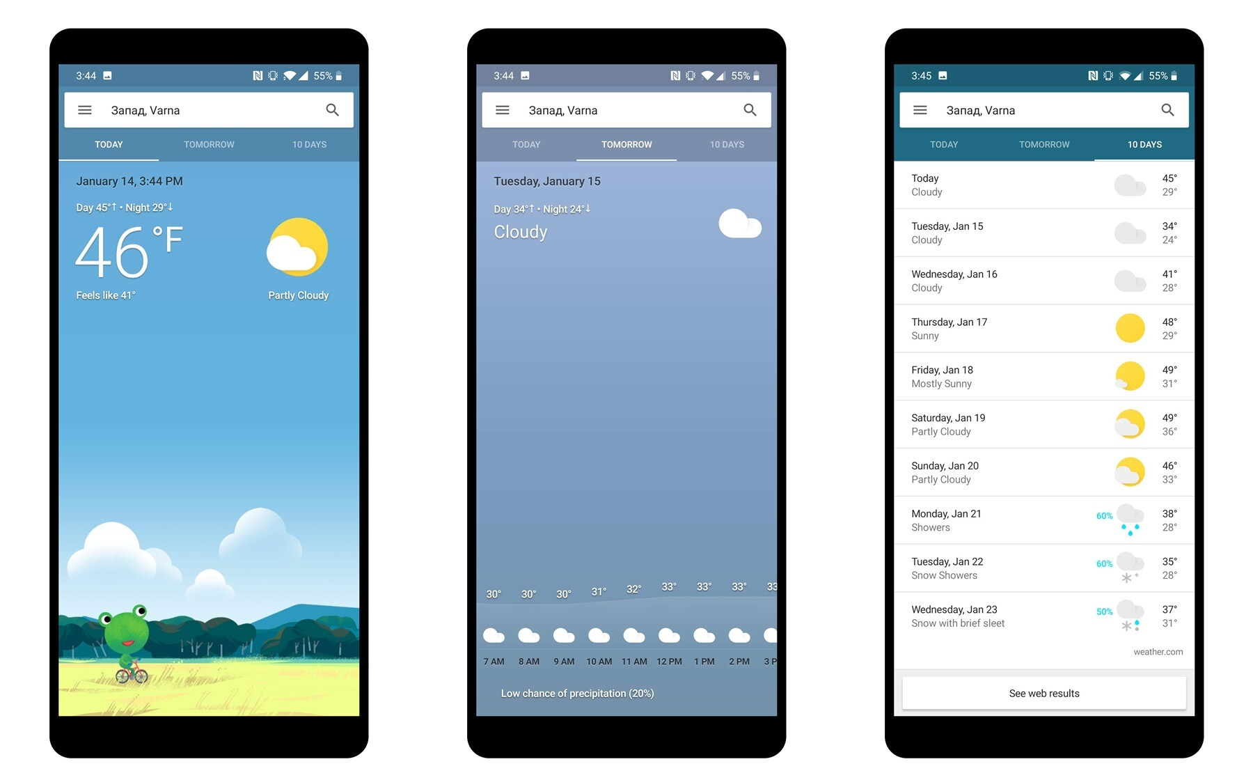 How to get Google's Weather app on your Android phone home