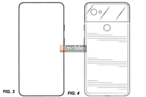 All-screen Google Pixel patent