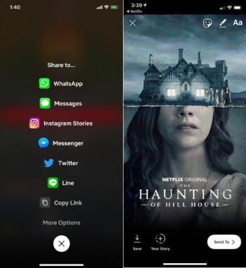 Mit Netflix können iPhone-Nutzer jetzt Filme und Fernsehsendungen in Instagram-Geschichten teilen