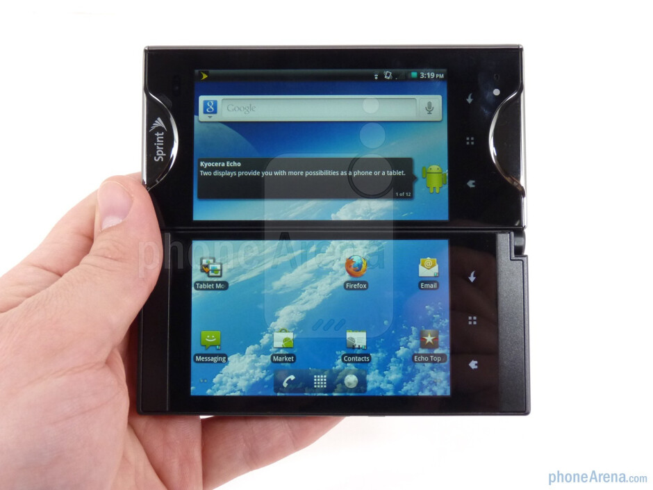 Geez, the Kyocera Echo is the prime example of why foldable devices have such a bad rap. Nothing about it was pretty, even with the mechanism that placed the two displays side-by-side to one another. - Quirky foldable phones you probably forgot about