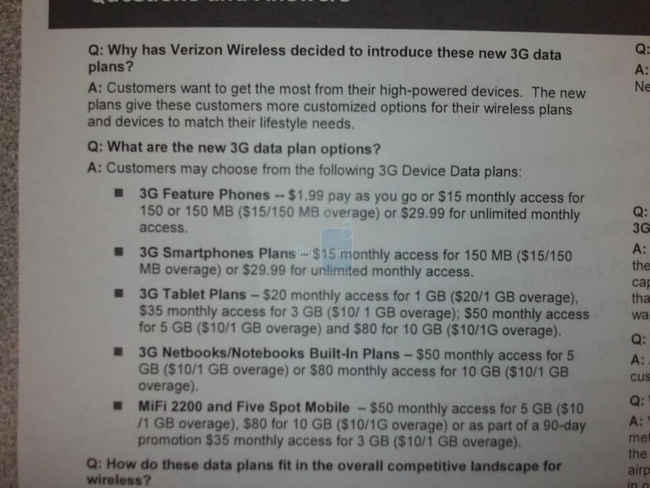 New data plans coming to Verizon