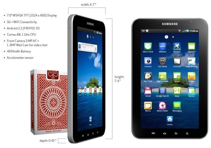 Samsung Galaxy Tab coming to Verizon on November 11