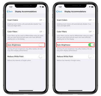 How to enable and disable Auto Brightness on iPhone XS Max and XR