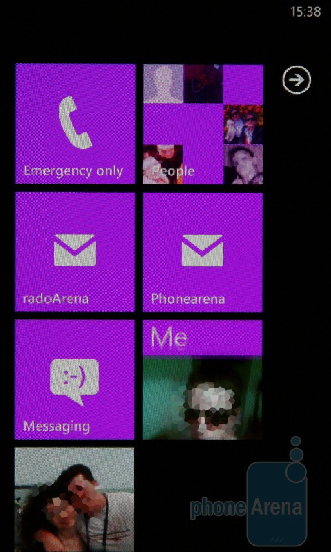 Home screen with Live Tiles - Windows Phone 7 Walkthrough