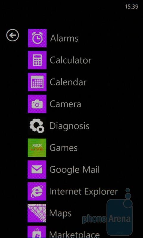 Main menu - Windows Phone 7 Walkthrough