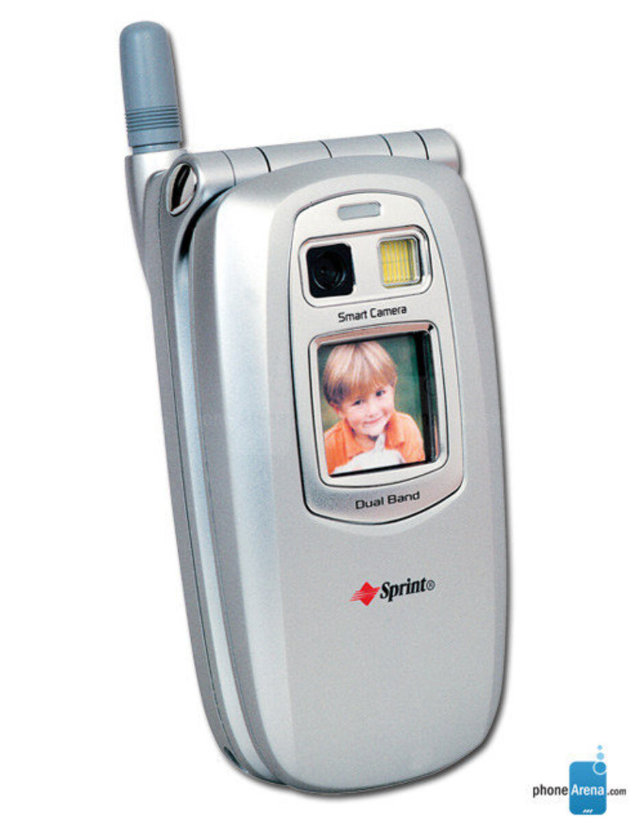 Sprint customers were one the first to experience having a camera in a phone with the Sanyo SCP-5300 back in 2002. - These were the classic flip phones that everyone used (and we miss them)