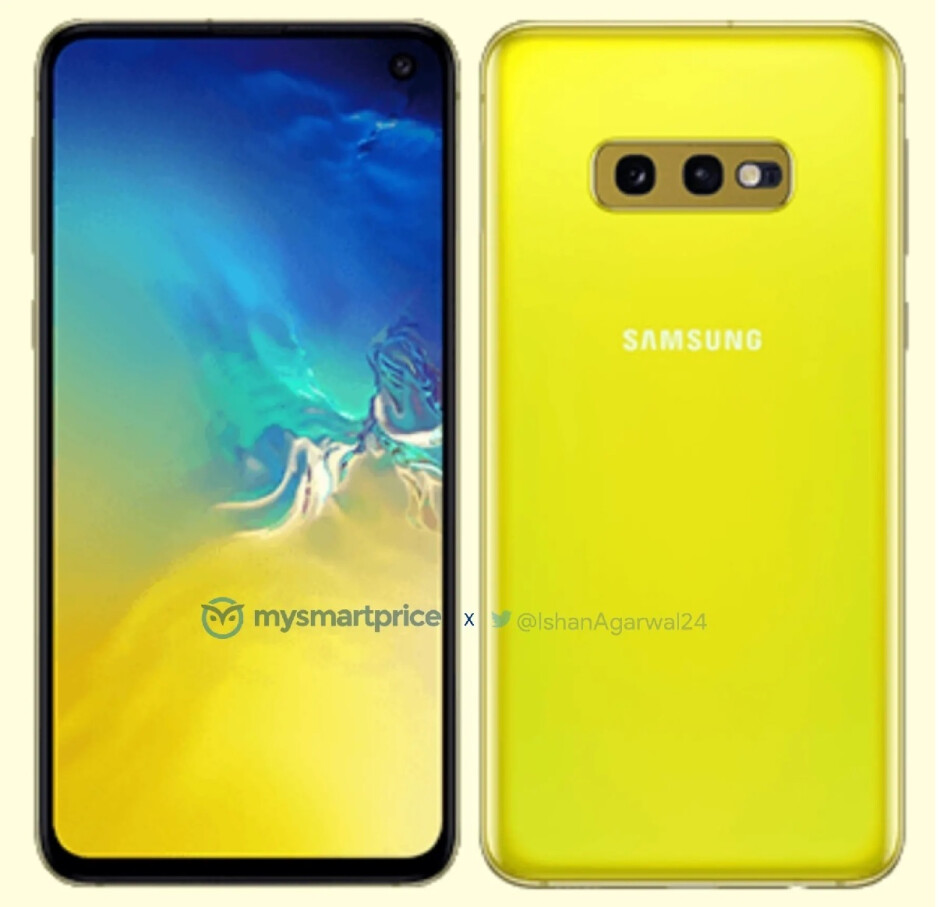 Galaxy S10e in electrifying yellow - Galaxy S10, S10+ and S10e release date, price, news and leaks