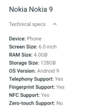 Nokia 9 PureView listing points towards one big