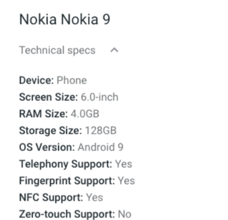 Nokia 9 PureView listing points towards one big disappointment