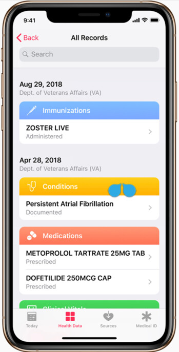 Vets will soon be able to see their aggregated medical records on an Apple iPhone