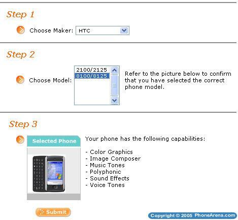 HTC Wizard and Tornado show up on Cingular's website