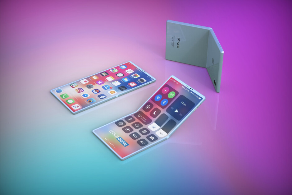 Apple foldable smartphone concept render based on patent - This is what Apple's foldable smartphone could look like