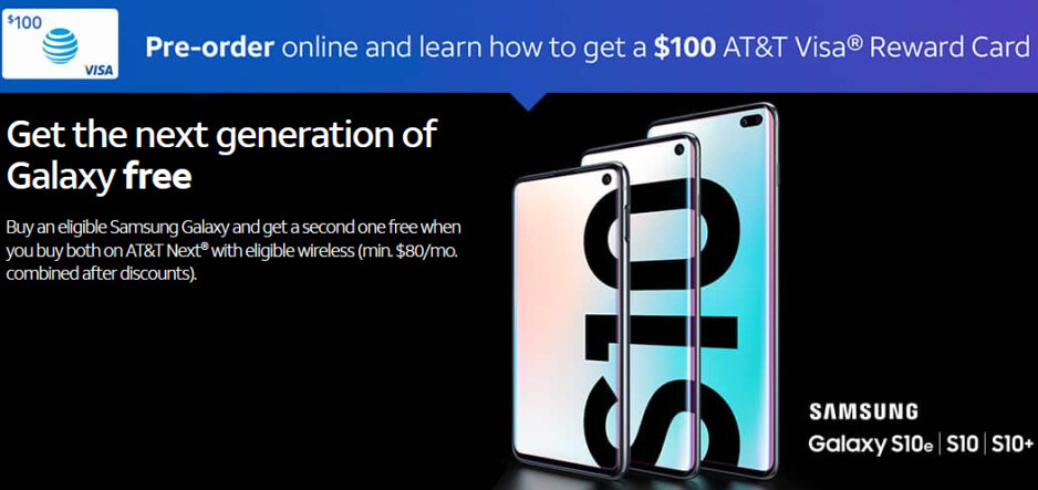 AT&T offers nice deals on Samsung Galaxy S10, S10+, and S10e