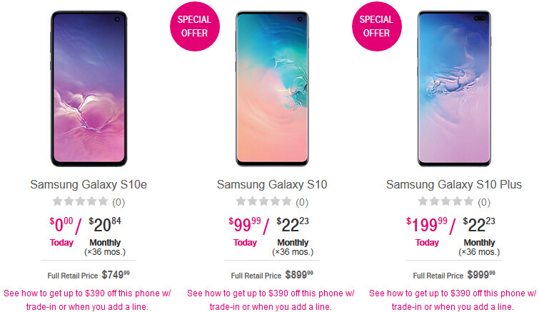 Deal: All T-Mobile Samsung Galaxy S10 models are $390 off (new line required)