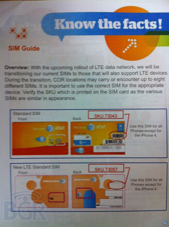 AT&T prepping SIM cards for LTE switch
