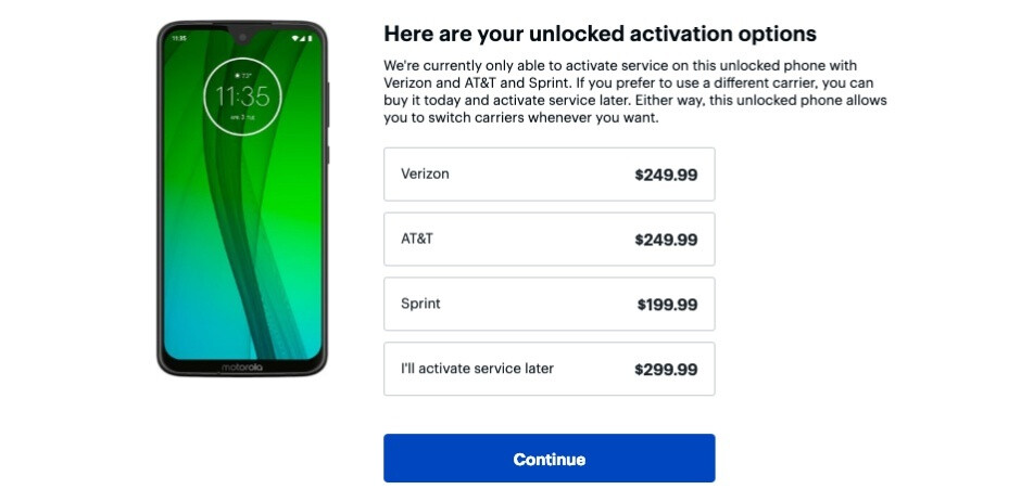 Moto G7 already gets a discount of up to $100 at Best Buy