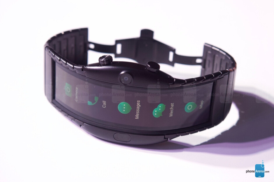 A wearable phone with flexible OLED display? Thanks, but no