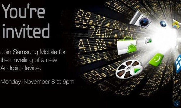 New Android device is expected to be unveiled by Samsung on November 8th - New Android device is expected to be unveiled by Samsung on November 8th