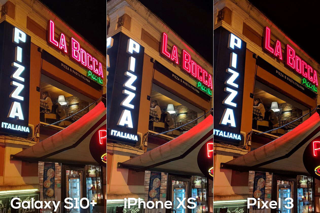 Galaxy S10+ vs Pixel 3 vs iPhone XS NIGHT camera comparison