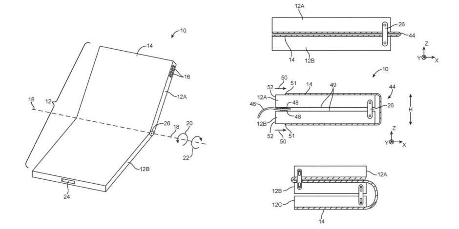 The folks from Apple are at least considering the idea of building a foldable phone, as demonstrated by these patent schematics. - Will Apple release a foldable iPhone?