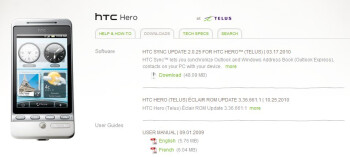 Android 2.1 update for the TELUS HTC Hero is available