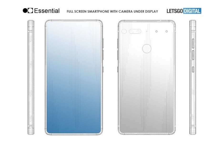Patent suggests Essential Phone 2 could come with no notch, no holes, and no bezels