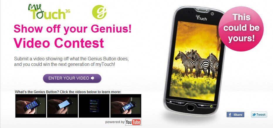 LetsTalk contest for a T-Mobile myTouch - LetsTalk contest winner will be awarded a free T-Mobile myTouch 4G