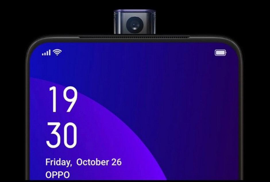 """The Oppo F11 Pro features a 16MP pop-up selfie camera - Oppo's new phone """"confirms"""" new feature for the OnePlus 7"""