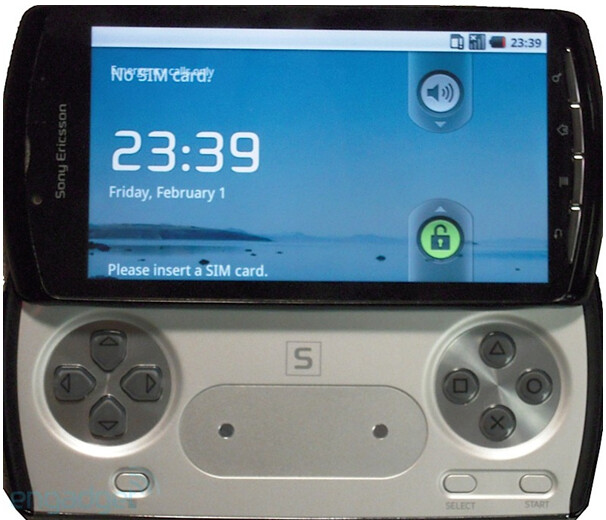 Instead of a QWERTY keyboard, the Sony Ericsson PlayStation phone has a slide out game controller  - Sony Ericsson PlayStation phone is pictured and is real