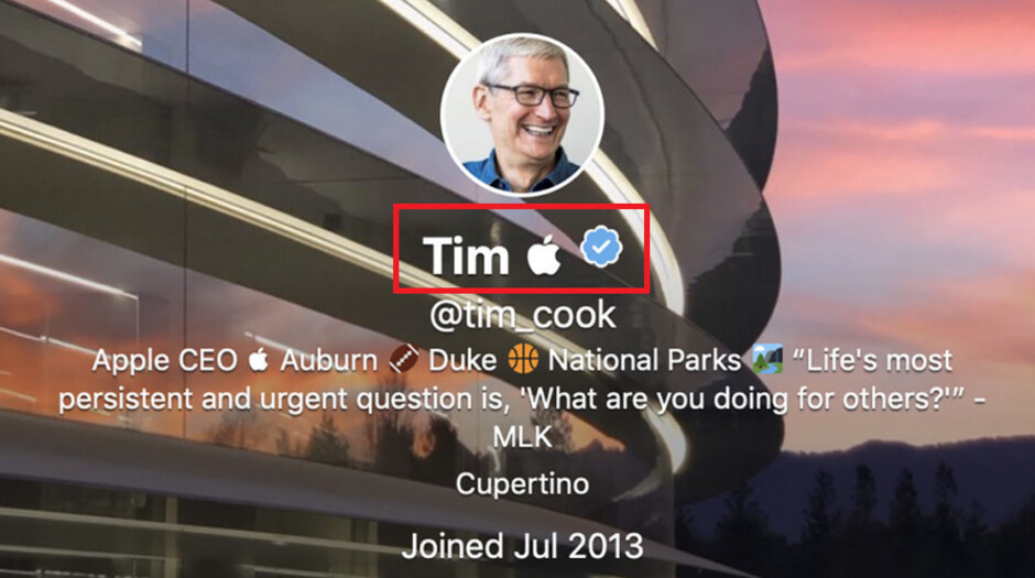 Tim Cook shows off his sense of humor on Twitter - By changing his profile on Twitter, Tim Cook displays a sense of humor