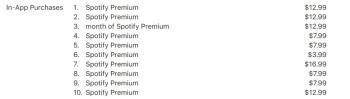 Por causa do Imposto da Apple, os clientes da App Store que pagam pelo Spotify são cobrados mais para fazer pagamentos no aplicativo