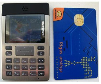 Samsung's credit card sized SGH-P300 phone
