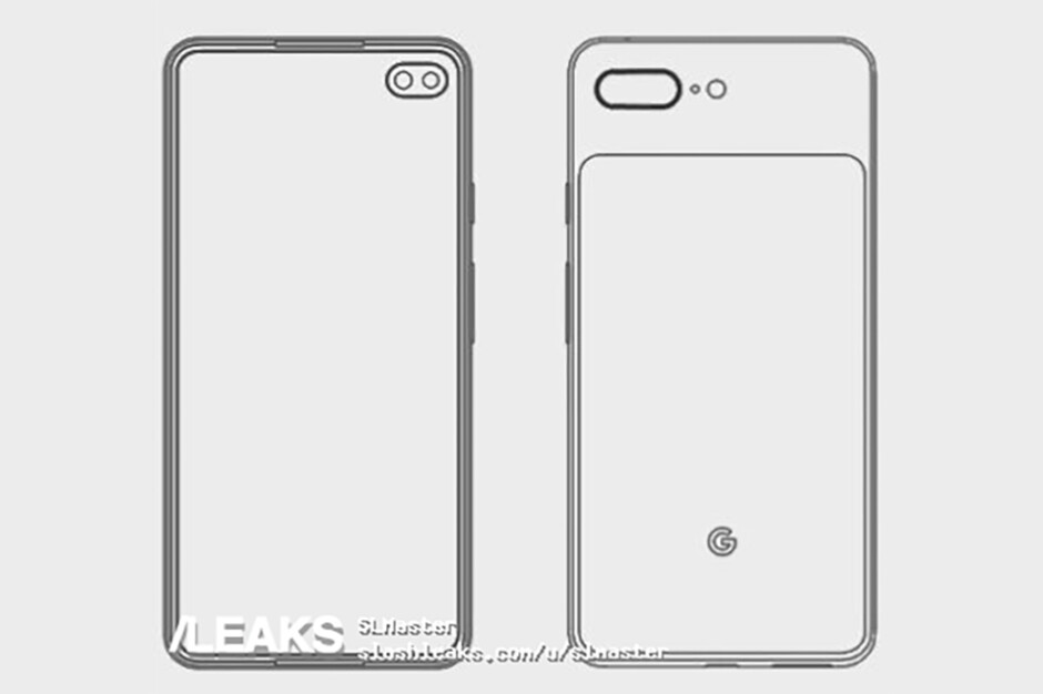 """Alleged leaked image of the Pixel 4 - Google Pixel 4 leak suggests """"punch-hole"""" display, two main cameras for Google's next flagship"""
