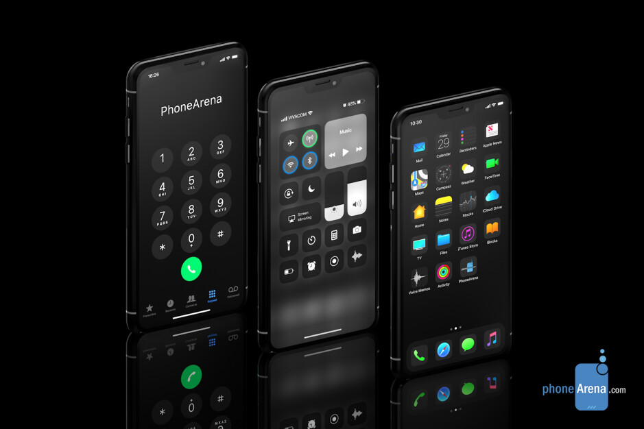 iPhone XI running iOS 13 Dark Mode concept - Apple's WWDC 2019 starts June 3rd; expect iOS 13 complete with Dark Mode!