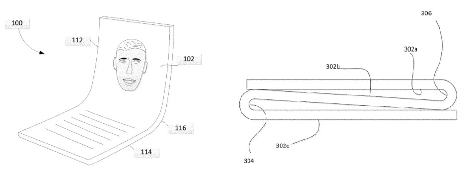 They always use the most handsome models for patent drawings - Google foldable phone might be on the way, patent suggests
