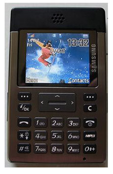 Samsung's credit card sized SGH-P300 phone